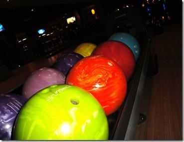 20.  Bowling balls