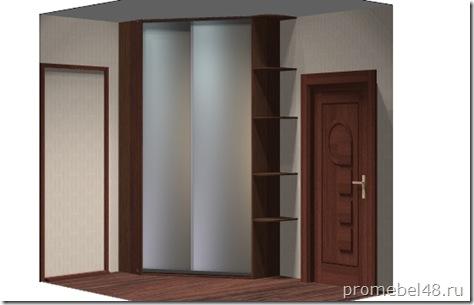 эскиз встроенного углового шкафа