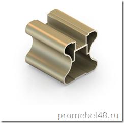 вертикальный алюминиевый симметричный профиль