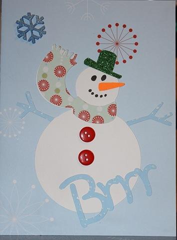 Snowman Card 012