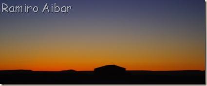 tonalidades del cielo a la puesta de sol