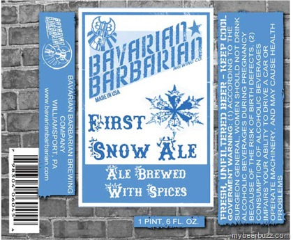 BavarianBarbarianFirstSnowLabel