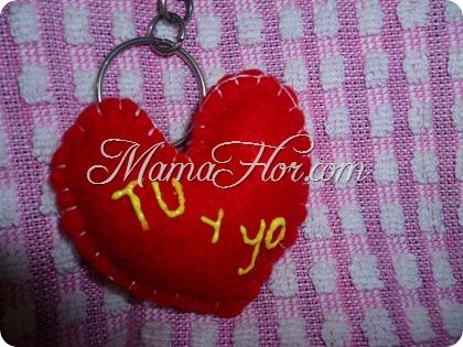 Llavero de Amor para el Día de San Valentín, 14 de febrero