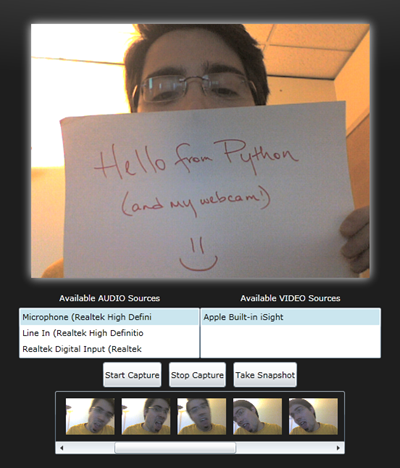 Hello from Python (and my webcam!)