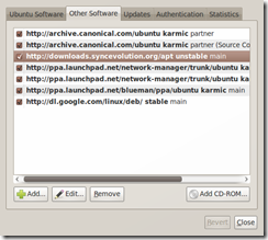 Screenshot-Software Sources