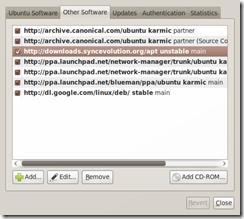 Screenshot-Software Sources