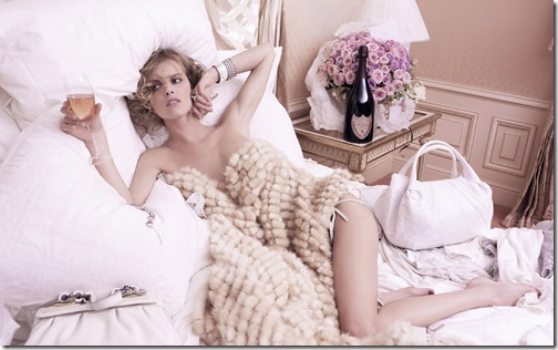 Supermodel Eva Herzigova in an advertisement for Champagne company 'Dom Perignon Rose' Photos taken by Karl Lagerfeld  USA- 29.07.06 Supplied by WENN (WENN does not claim any Copyright or License in the attached material. Any downloading fees charged by WENN are for WENN's services only, and do not, nor are they intended to, convey to the user any ownership of Copyright or License in the material. By publishing this material, the user expressly agrees to indemnify and to hold WENN harmless from any claims, demands, or causes of action arising out of or connected in any way with user's publication of the material.)