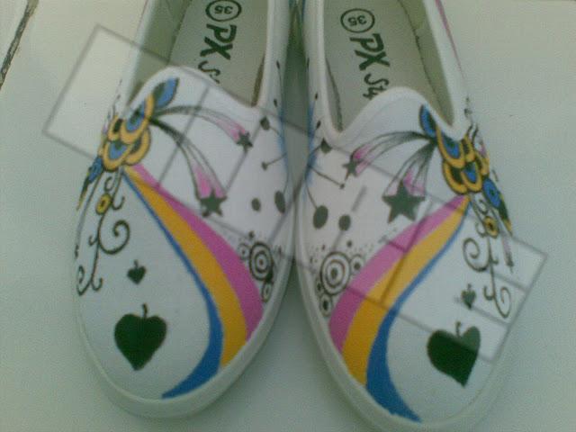 Rainbow Pelangi - Sepatu Lukis