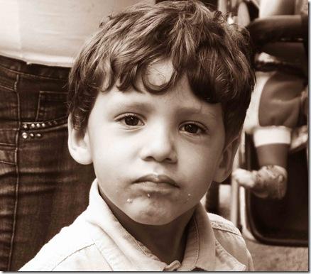 O menino. Foto: Gladstone Barreto. Clique para ampliar