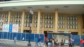 Fachada do Cine Marabá durante a reforma. Foto de Gladstone Barreto
