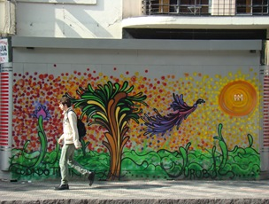 Grafite na Praça da República, centro paulistano. Foto: Gladstone Barreto. Clique para ampliar