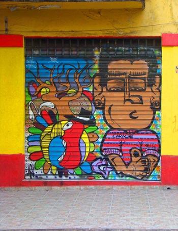 Grafite na rua Cesário Mota Jr, Vila Buarque. Foto: Gladstone Barreto. Clique para ampliar
