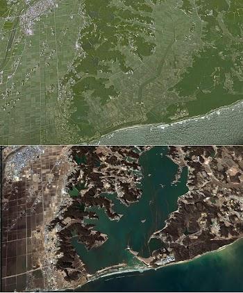 日本海啸地震前后对比图