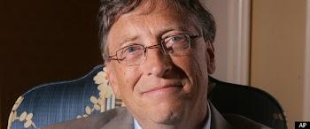 比尔·盖茨热心慈善 将再丢首富头衔