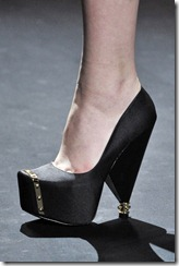 Christian Siriano AW 11 Black Wedge ShoesNBooze