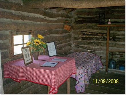inside the cabin, Little House on the Prairie