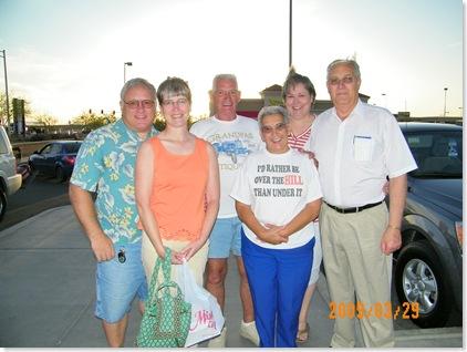 It was a little windy. Mitch, Kim, George, Jo, LaVon, Don