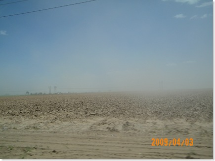 high winds and dust storm