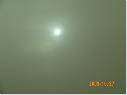 so much dust we could hardly see the sun