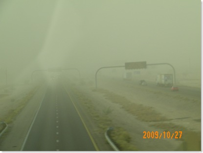 Interstate10 in the dust storm
