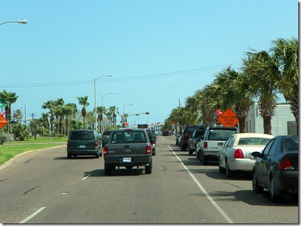Port Isabel about to cross the causeway