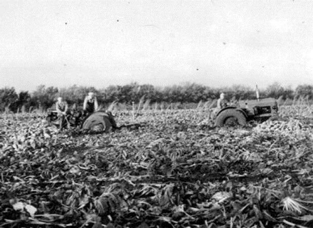 fastsatte traktorer