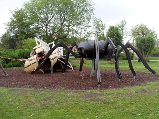 edderkop og sneglehus