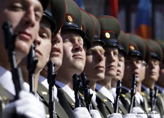 俄罗斯5月9日大阅兵 骄傲的士兵