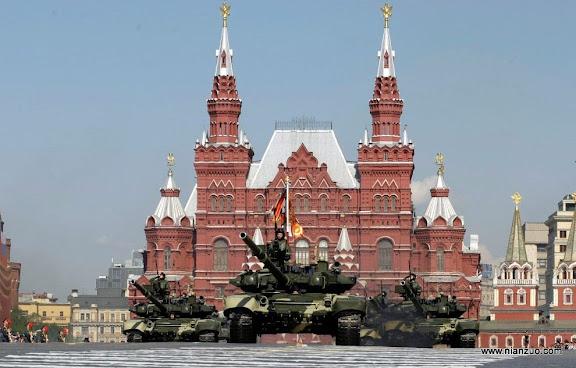 俄罗斯5月9日大阅兵 坦克