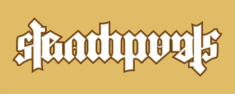 Ambigrama da palavra Steampunk