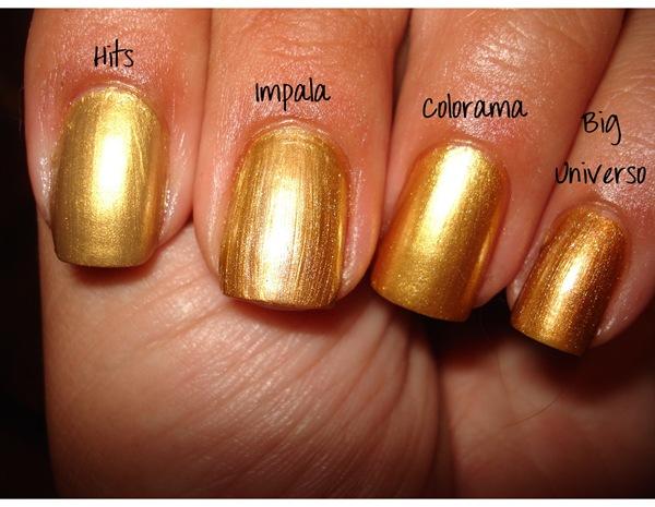 Comparando Cromados Dourado