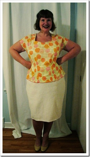 Colette. Sencha {minus} neckline view 1 {plus} Crepe neckline view 2 = new awesome shirt!!