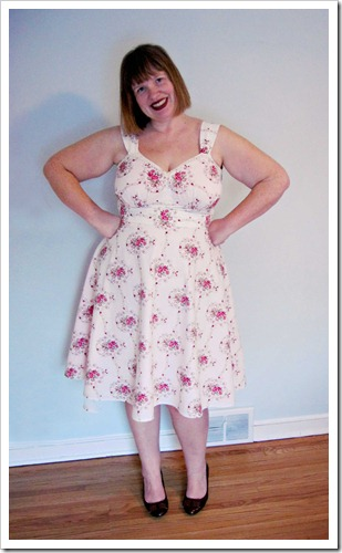 McCalls 5094–the February Dress. A little roses and lace.