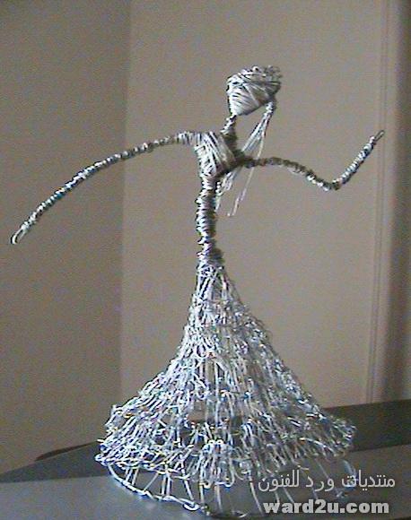 منحوتاتى بالسلك المعدنى Wire Sculpture