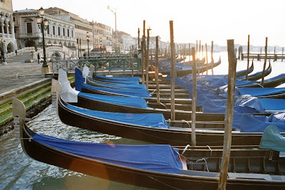 Gondolas in Early Morning, Venice, 2005