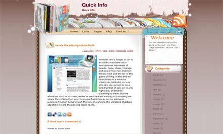Quick-Info-Blogger-Template
