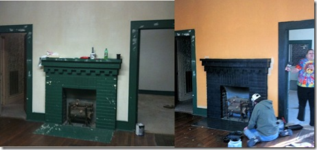 LR fireplace before-during