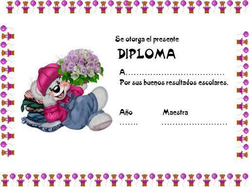 Bonitos diplomas para los niños. Pincha en la imagen para ver su