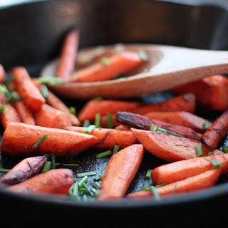 Carrot Wedges Toasted in Coconut Oil