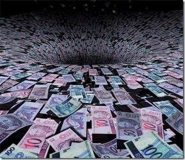 dinheiro no buraco
