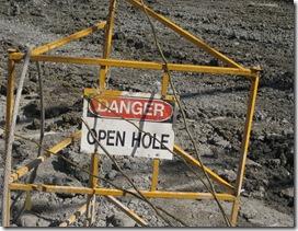 Danger - Open Hole