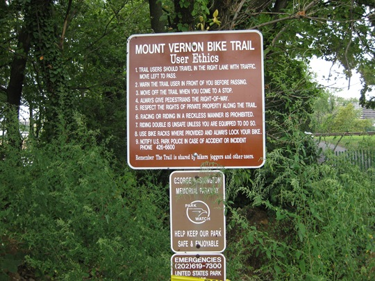 Mount vernon trail ethics