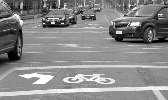 Toronto bike box