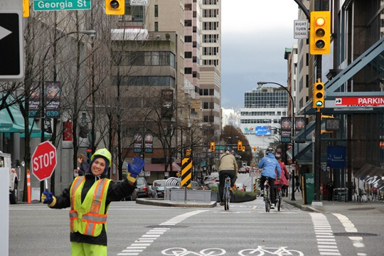 Vancouver Hornby Street Bike Lanes