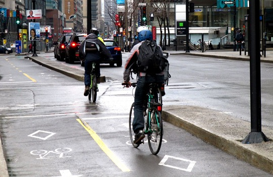 Montreal bike lane