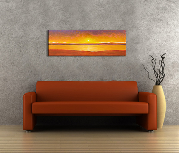 Contemporary Painting Sunset Abstract Art For Sale