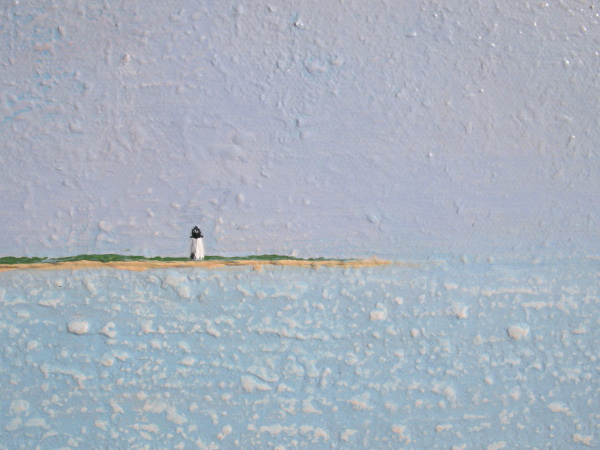 Detail of Lighthouse Contemporary Painting For Sale