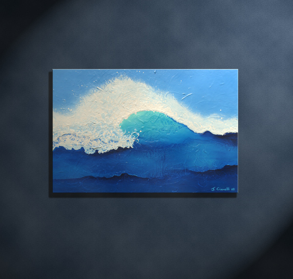 Abstract Seascape Contemporary Painting Art For Sale