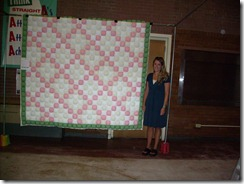 Ashley A & her quilt