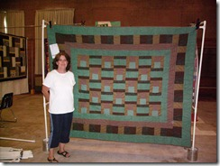 Betty S with quilt
